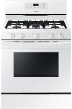 New 30 in  5 8 cu  ft  Single Oven Gas Range Clean Oven in White Dishwasher Safe