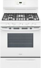 30 in  5 0 cu  ft  Gas Range Self Cleaning QuickBake Convection in White Simmer