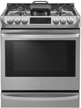 New 6 3 cu  ft  Slide In Gas Range Probake Convection Oven in Stainless Steel
