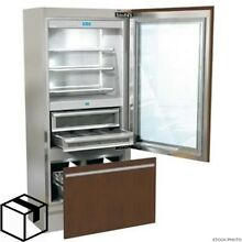 BRAND NEW  LUXURY 36  BUILT IN GLASS DOOR REFRIGERATOR  Fhiaba model I8991TGT6IU