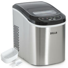 Portable Electric Ice Maker High Capacity Touch Button Display 2 Cube Sz  Silver