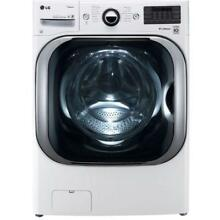 LG 5 2 cu  ft  High Efficiency Front Load Washer w  Steam   Turbo Wash WM8100HWA