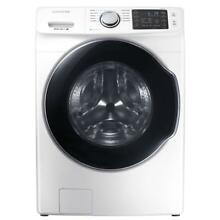 Samsung 4 5 cu ft High Efficiency White Front Load Washer w  Steam   WF45M5500AW