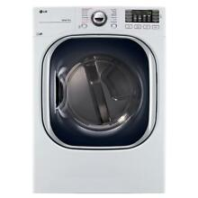 LG Electronics 7 4 cu  ft  Gas Dryer with Turbo Steam in White   DLGX4371W