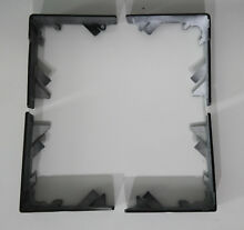 OEM Genuine Samsung Washer Dryer Guide Cover Set   Black Stainless   FREE SHIP