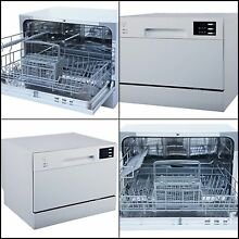 Dishwasher White Portable Compact Energy Countertop with Delay Start