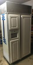 GE Monogram 42  Built in Counter Depth White Side by Side Refrigerator