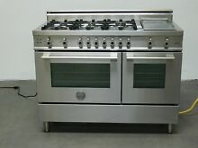 Bertazzoni 48  Stainless Steal All Gas Double Oven w  6 Burners
