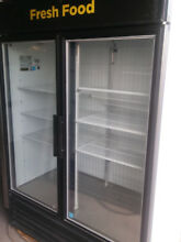 Freezer  two glass doors  by True  Commercial