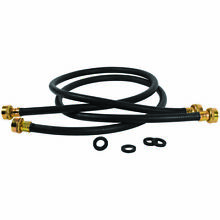 Petra CAMFF82PK Black EDPM Rubber Washing Machine Hose  8ft  2 pk