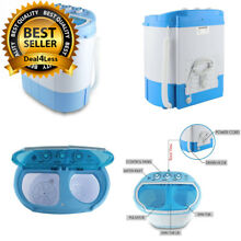Electric Portable Washing Machine And Spin Dryer Compact Durable Design To Wash