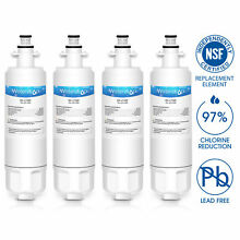 Fits LG LT700P 048231783705 KENMORE 9690 46 9690 Refrigerator Water Filter 4PACK