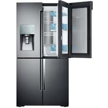 Samsung 28 cf 4 Door Flex French Door Refrigerator Black Stainless   RF28K9380SG