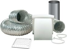 Wide Mouth Dryer Vent Kit Safe Venting Pest Screen DUct HVAC Exhaust Hood Home