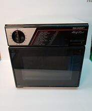 SHARP HALF PINT MICROWAVE R 4060 GREAT FOR DORM ROOM OFFICE RV TESTED Made JAPAN