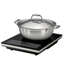 Tramontina 3 piece Induction Cooking Set Cooktop Pan 4Qt   3 7L   NEW   Open Box