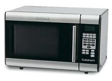 Cuisinart Small Countertop Microwave Stainless Steel 1000 Watts 8 Preset Setting