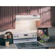 White Range Hood Under Cabinet 36  2 Speed Fan 160 CFM By Broan 40000 Series NEW