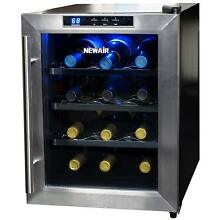 Table Top Electric Wine Cooler 12 Bottle Small Thermo Chiller Counter Fridge New