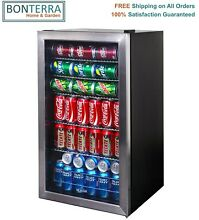 NewAir AB 1200 126 Can Stainless Steel Mini Beverage Cooler Fridge