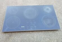 Miele 36  Black Built In Induction Electric Cooktop Glass   KM5773