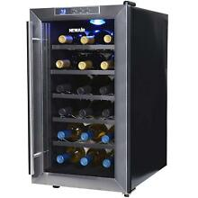 Black 18 Bottle Wine Cooler 100W 120V Chiller Fridge Compact Mini Home Bar Room