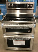 KitchenAid KFED500ESS 30  Stainless Steel Double Oven Electric Range Convection