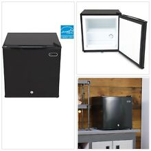 Portable Freezer Black Lock Energy Star 1 1 Cubic Feet Upright Adjustable NEW