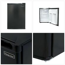 Mini Fridge Refrigerator Black College Dorms Garage refrigerator Personal