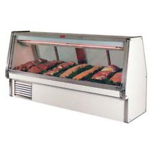 Howard McCray   SC CMS34E 12   148 1 2  x 53 1 2  White Red Meat Case