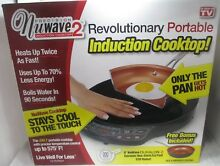 NuWave 2 Piece Precision Portable Induction Cooktop with 9  Ceramic Frying Pan