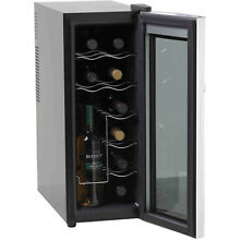 Wine Cooler 12 Bottle Drink Refrigerator Thermometric Counter Top Size