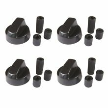 Universal Oven Range Knob For GE Maytag Whirlpool x 4 Pack   Adapters