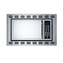 0 9 cu  ft  Built In Microwave in Stainless Steel