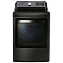 LG 7 3 Cu  Ft  Black Stainless Steel Gas Dryer