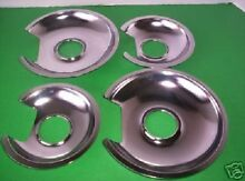 4 NEW CHROME Drip Pans 2 Sets FOR THE  JENN AIR Cartridge A100   JEA7000