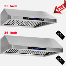 1000CFM 30 36 inch Stove Range Hood Under Cabinet Premium Stainless Steel Baffle