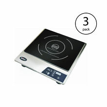 Max Burton Portable Stainless Steel Deluxe Countertop Induction Cooktop  3 Pack