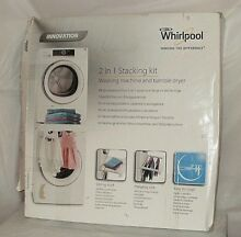 For Whirlpool Stacker Washer   Dryer 2 in 1 Stacking Kit a Shelf