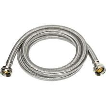 Everbilt 3 4 in  x 3 4 in  x 96 in  Stainless Steel Washing Machine Hose
