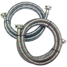 Everbilt 3 4 in  x 3 4 in  x 5 ft  Stainless Steel Washing Machine Hose