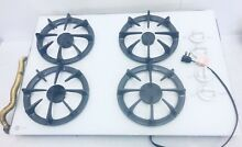 GE Profile White Cooktop 4 Burner Glass Stove Top Model JGP336WEV4WW