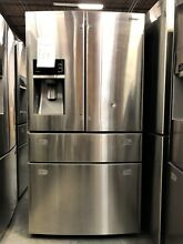 Samsung 28 cu  ft  4 Door French Door Stainless Steel Refrigerator   RF28HMEDBSR