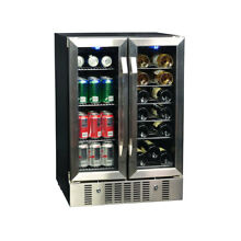 NewAir AWB 360DB 18 Bottle and 58 Can Dual Zone Wine   Beverage Cooler  Silver