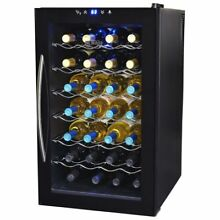 NewAir 28 Bottle Thermoelectric Wine Refrigerator  Black W