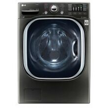 LG 4 5 Cu  Ft  Black Stainless Steel Front Loading Washer