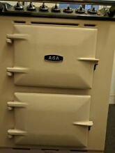 AGA Dual Fuel Stove Free Standing Electric with Gas Hob Cream Color