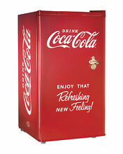 Nostalgia RRF300SDBCOKE Coca Cola Series 3 0 Cubic Foot Refrigerator and Freezer