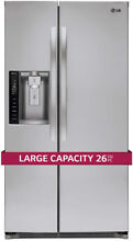 LG 26CuFt Side by Side Ultra Large Capacity Refrigerator
