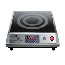 13 In  Smooth Ceramic Glass Induction Cooktop 1 Element Single Burner Black New